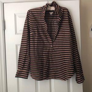 Rose Gold /Black stripe shirt